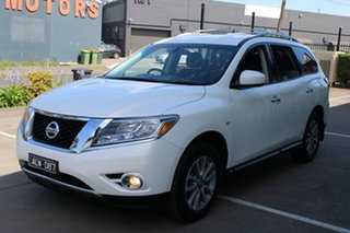 2015 Nissan Pathfinder R52 ST (4x2) White Continuous Variable Wagon.