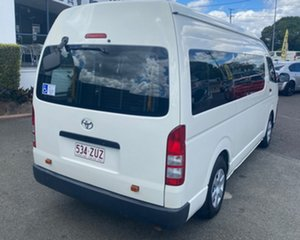 2007 Toyota HiAce KDH223R MY08 Commuter High Roof Super LWB White 4 Speed Automatic Bus