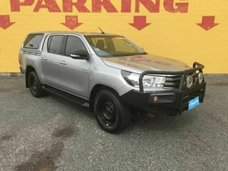 2016 Toyota Hilux GUN126R SR Double Cab Silver 6 Speed Manual Cab Chassis.