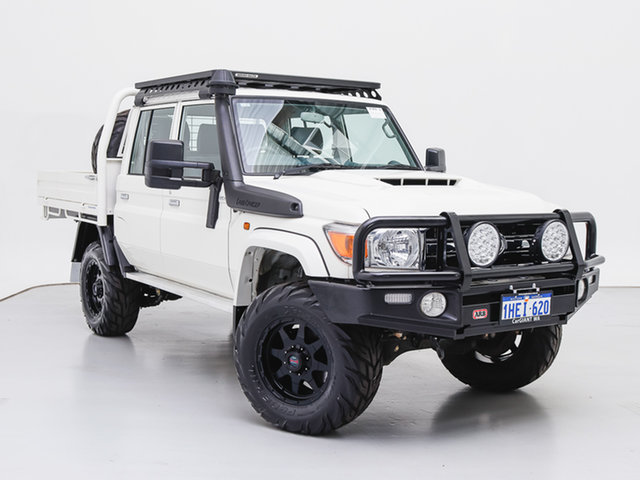 Used Toyota Landcruiser VDJ79R GXL (4x4), 2020 Toyota Landcruiser VDJ79R GXL (4x4) White 5 Speed Manual Double Cab Chassis