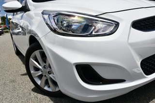 2019 Hyundai Accent RB6 MY19 Sport White 6 Speed Sports Automatic Sedan.