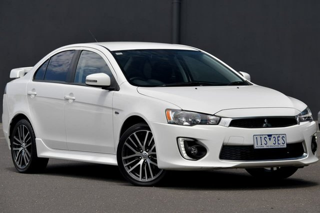Used Mitsubishi Lancer CF MY16 GSR Moorabbin, 2016 Mitsubishi Lancer CF MY16 GSR White 6 Speed Constant Variable Sedan