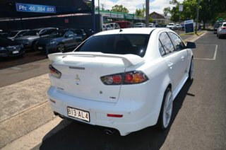 2013 Mitsubishi Lancer CJ MY13 Ralliart White 6 Speed Direct Shift Sedan.