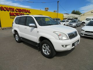 2009 Toyota Landcruiser Prado KDJ120R 07 Upgrade GXL (4x4) White 5 Speed Automatic Wagon.