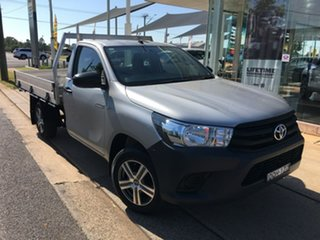 2017 Toyota Hilux TGN121R Workmate Silver 5 Speed Manual Cab Chassis.