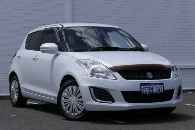 Used Suzuki Swift FZ MY15 GL Bunbury, 2015 Suzuki Swift FZ MY15 GL White 4 Speed Automatic Hatchback