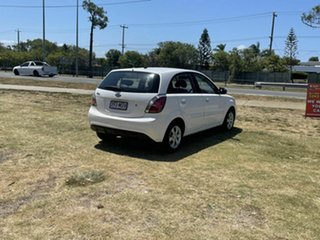 2010 Kia Rio JB MY10 S White 5 Speed Manual Hatchback