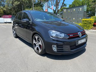 2011 Volkswagen Golf VI MY12 GTi Black 6 Speed Manual Hatchback.