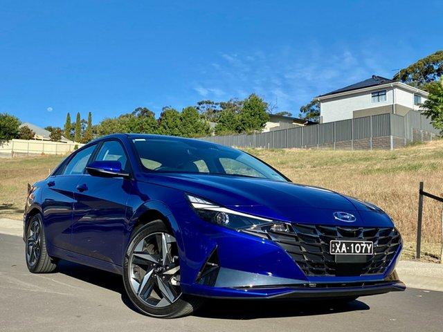Demo Hyundai i30 CN7.V1 MY21 Elite Reynella, 2020 Hyundai i30 CN7.V1 MY21 Elite Intense Blue 6 Speed Auto Sequential Sedan