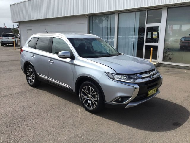 Pre-Owned Mitsubishi Outlander ZK MY16 LS 4WD Cardiff, 2016 Mitsubishi Outlander ZK MY16 LS 4WD Silver 6 Speed Constant Variable Wagon
