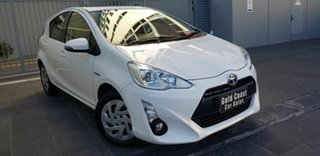 2016 Toyota Prius c NHP10R MY15 Hybrid White Continuous Variable Hatchback.