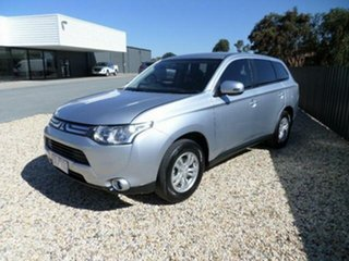 2013 Mitsubishi Outlander ZJ MY14 LS (4x2) Silver Continuous Variable Wagon.