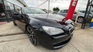 2011 BMW 6 Series F12 MY0911 640i Steptronic Black 8 Speed Sports Automatic Convertible.