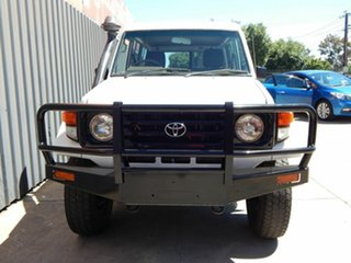 2006 Toyota Landcruiser HZJ78R Troopcarrier White 5 Speed Manual Wagon.