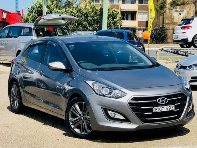 Used Hyundai i30 GD4 Series II MY17 Active Liverpool, 2016 Hyundai i30 GD4 Series II MY17 Active Grey 6 Speed Sports Automatic Hatchback