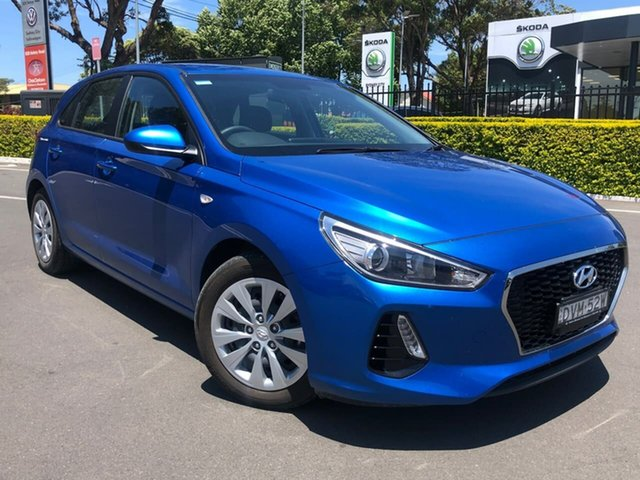 Used Hyundai i30 PD MY18 Go Botany, 2017 Hyundai i30 PD MY18 Go Blue 6 Speed Sports Automatic Hatchback