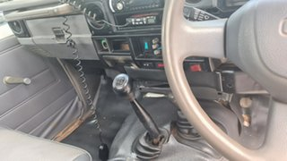 2001 Toyota Landcruiser HZJ79R White 5 Speed Manual Utility