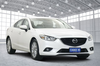 2014 Mazda 6 GJ1031 Sport SKYACTIV-Drive White 6 Speed Sports Automatic Sedan.