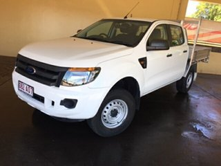 2014 Ford Ranger PX XL 2.2 (4x4) White 6 Speed Automatic Crew Cab Utility