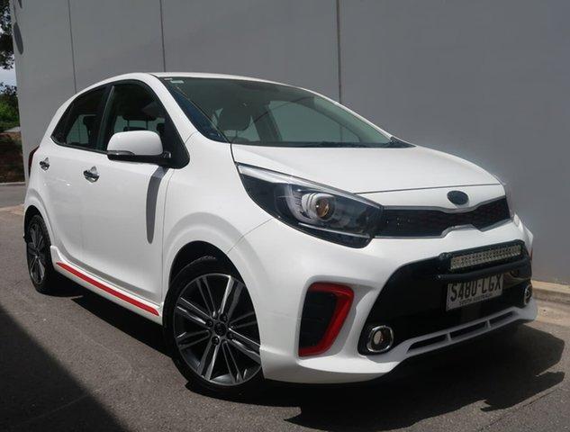 Used Kia Picanto JA MY19 GT-Line Reynella, 2018 Kia Picanto JA MY19 GT-Line White 4 Speed Automatic Hatchback