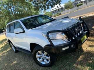 2016 Toyota Landcruiser Prado GDJ150R GXL Glacier White 6 Speed Manual Wagon.