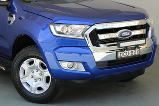 2016 Ford Ranger PX MkII XLT Double Cab 4x2 Hi-Rider Blue 6 Speed Sports Automatic Utility