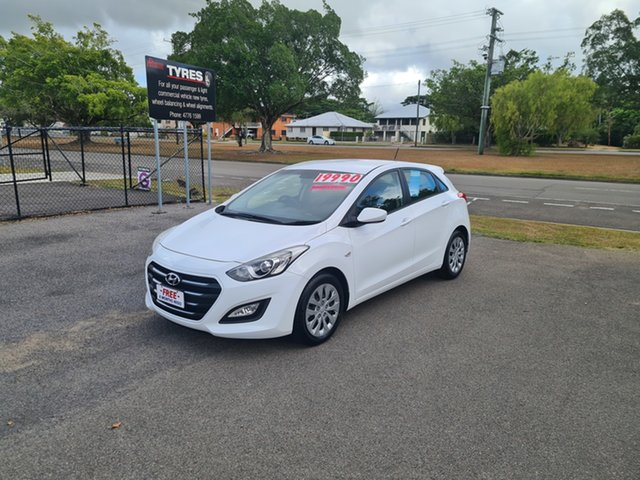 Used Hyundai i30 GD4 Series 2 Active Ingham, 2016 Hyundai i30 GD4 Series 2 Active White 6 Speed Automatic Hatchback