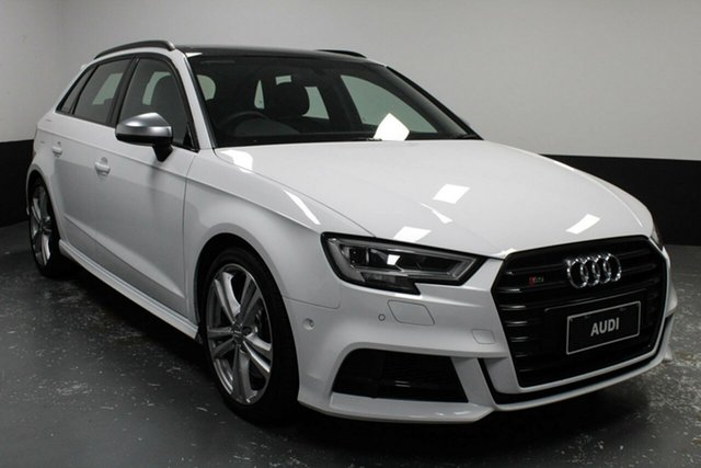 Used Audi S3 8V MY19 Sportback S Tronic Quattro Newcastle West, 2018 Audi S3 8V MY19 Sportback S Tronic Quattro White 7 Speed Sports Automatic Dual Clutch Hatchback
