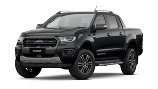 2021 Ford Ranger PX MKIII 2021.2 Wildtrak Shadow Black 10 Speed SMF Double Cab Pick Up.