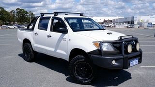 2007 Toyota Hilux KUN26R MY07 SR White 5 Speed Manual Cab Chassis.