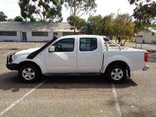 2011 Nissan Navara D40 ST White 6 Speed Manual Utility