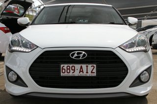 2014 Hyundai Veloster FS3 SR Coupe Turbo White 6 Speed Sports Automatic Hatchback.