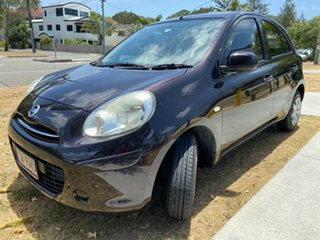 2011 Nissan Micra K13 ST Maroon 4 Speed Automatic Hatchback.