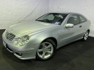 2005 Mercedes-Benz C-Class CL203 MY2005 C180 Kompressor Sports Silver 5 Speed Automatic Coupe.
