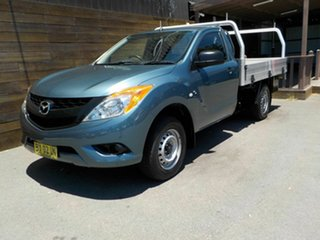 2013 Mazda BT-50 UP0YD1 XT 4x2 Blue 6 Speed Manual Cab Chassis