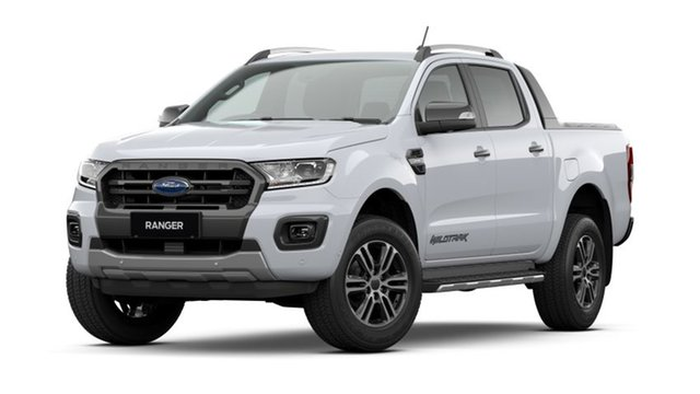 New Ford Ranger PX MkIII 2021.25MY Wildtrak Homebush, 2021 Ford Ranger PX MkIII 2021.25MY Wildtrak Arctic White 10 Speed Sports Automatic