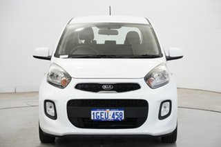2016 Kia Picanto TA MY17 SI Clear White 4 Speed Automatic Hatchback.
