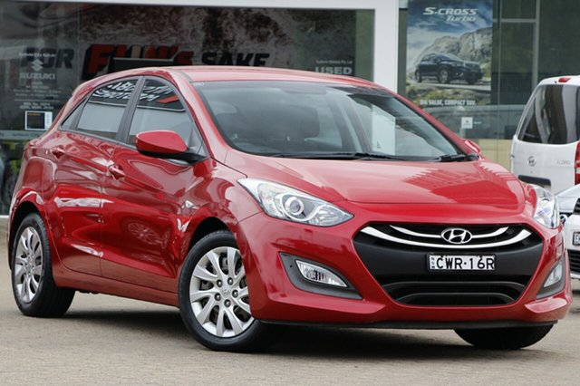 Used Hyundai i30 GD MY14 Active Rosebery, 2013 Hyundai i30 GD MY14 Active Red 6 Speed Automatic Hatchback