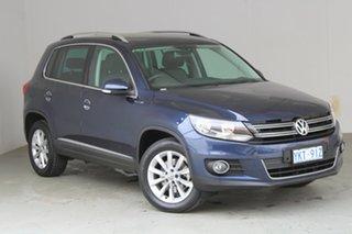 2015 Volkswagen Tiguan 5N MY15 130TDI DSG 4MOTION Dark Blue Metallic 7 Speed.