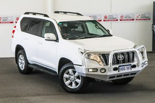 2015 Toyota Landcruiser Prado KDJ150R MY14 GXL Glacier White 5 Speed Sports Automatic Wagon.