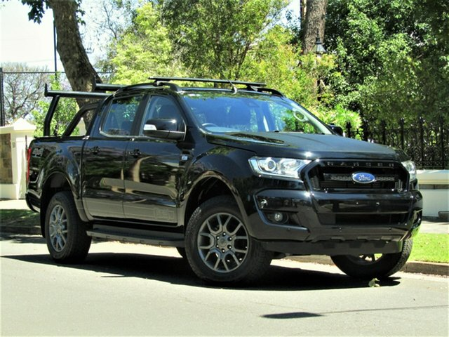 Used Ford Ranger PX MkII FX4 Double Cab Hyde Park, 2017 Ford Ranger PX MkII FX4 Double Cab Black 6 Speed Sports Automatic Utility