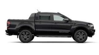 2021 Ford Ranger PX MKIII 2021.2 Wildtrak Shadow Black 10 Speed SMF Double Cab Pick Up