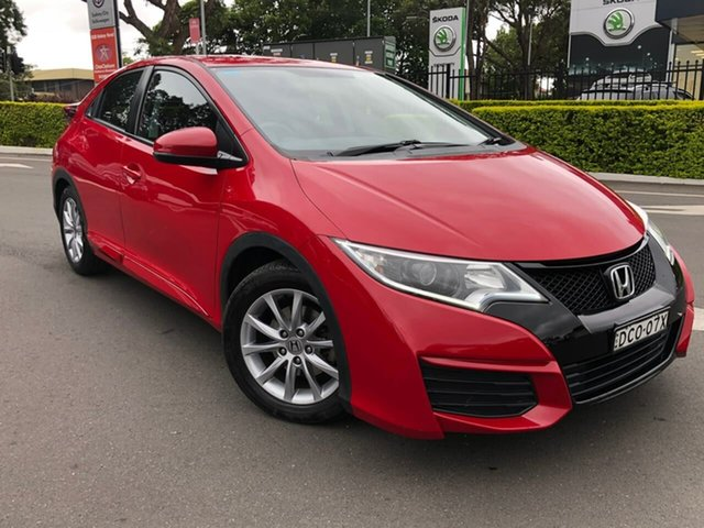 Used Honda Civic 9th Gen MY15 VTi-S Botany, 2016 Honda Civic 9th Gen MY15 VTi-S Red 6 Speed Manual Hatchback