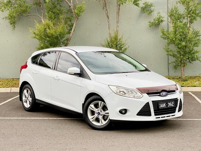 Used Ford Focus LW MkII Trend PwrShift Templestowe, 2013 Ford Focus LW MkII Trend PwrShift White 6 Speed Sports Automatic Dual Clutch Hatchback