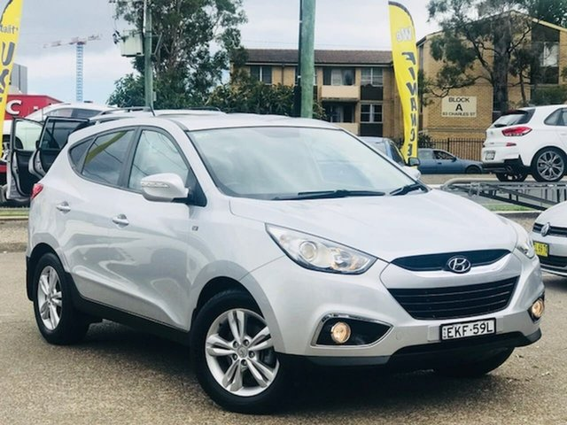 Used Hyundai ix35 LM2 SE Liverpool, 2013 Hyundai ix35 LM2 SE Silver, Chrome 6 Speed Sports Automatic Wagon