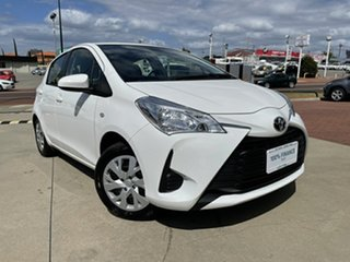 2019 Toyota Yaris NCP130R MY18 Ascent White 4 Speed Automatic Hatchback.