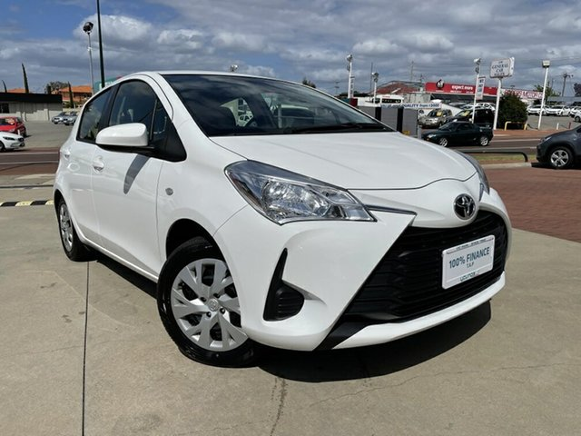 Used Toyota Yaris NCP130R MY18 Ascent Victoria Park, 2019 Toyota Yaris NCP130R MY18 Ascent White 4 Speed Automatic Hatchback