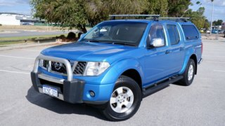 2007 Nissan Navara D40 ST-X Blue 6 Speed Manual Utility.
