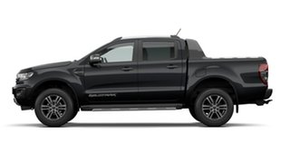2021 Ford Ranger PX MKIII 2021.2 Wildtrak Shadow Black 10 Speed Sports Automatic Double Cab Pick Up.