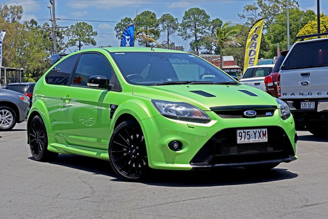 Used Ford Focus LV RS Chandler, 2010 Ford Focus LV RS Green 6 Speed Manual Hatchback